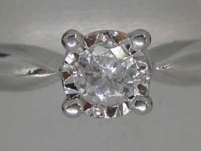 CLASSIC SOLID 18CT WHITE GOLD DIAMOND SOLITAIRE RING