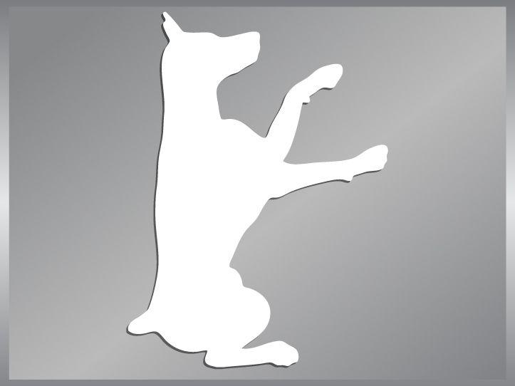 DOBERMAN PINSCHER cut vinyl decal dog car sticker #4