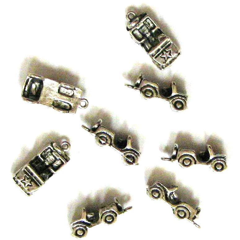 Tibetan Silver Plated Jeep Wrangler Charms Jeeps Cars
