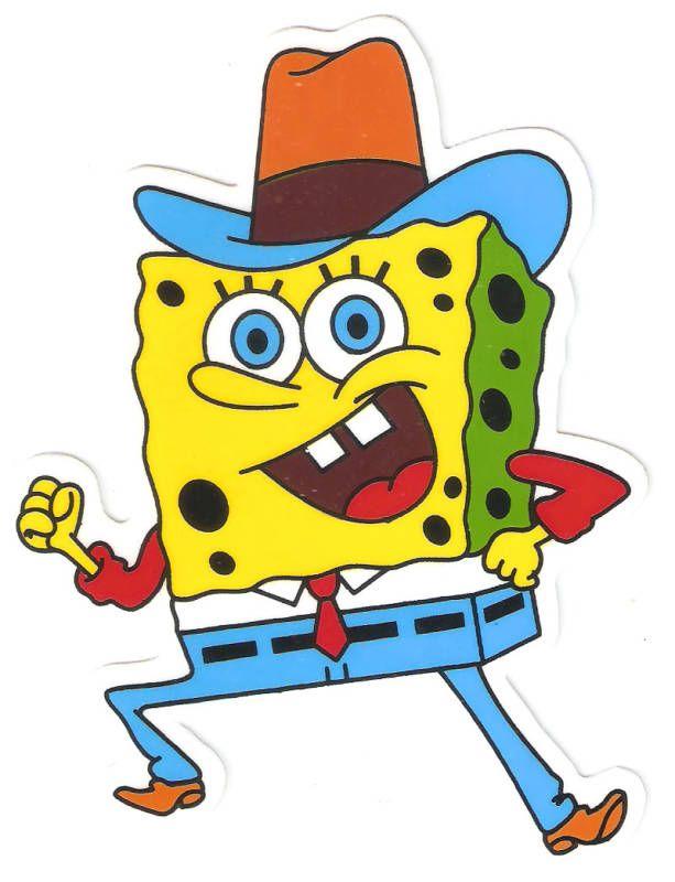 Spongebob cowboy hat horse rider Vinyl Decal Sticker