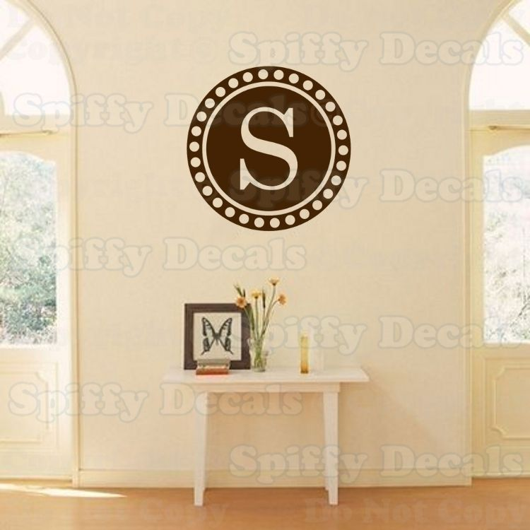 PERSONALIZED CIRCLE FAMILY MONOGRAM Vinyl Wall Decal